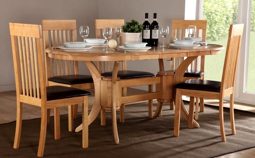 Latest Fabulous Oval Oak Dining Table Chairs Oval Extending Dining Table With Oval Extending Dining Tables And Chairs (View 11 of 20)