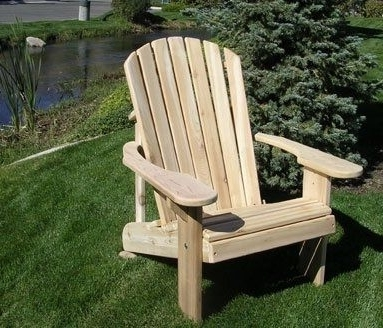 Latest Green Cedar Dining Chairs Pertaining To 8002 Cedar Adirondack Chair Sweetheart Sale Price (Gallery 4 of 20)