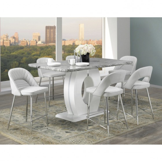 Latest Grey Pub Height Dining Set (Gallery 14 of 20)