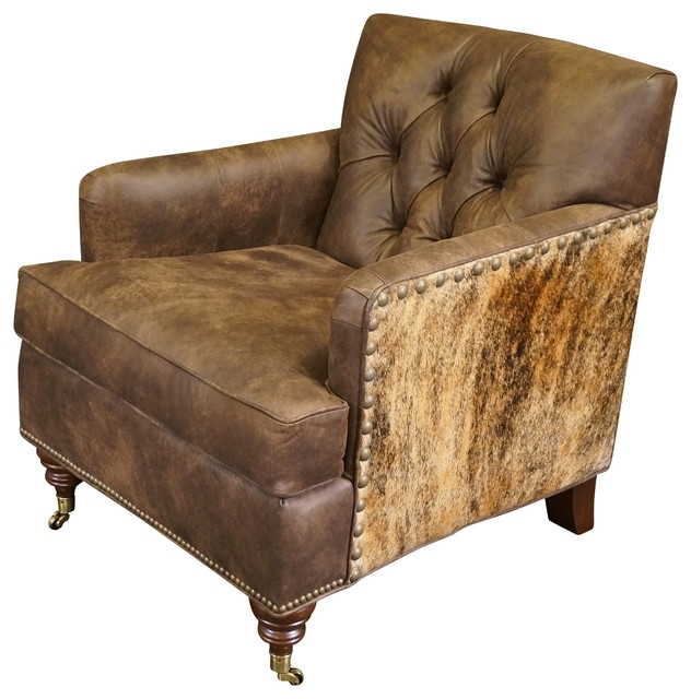 """Latest Gunner"""" Leather Chair – Southwestern – Armchairs And Accent Chairs Pertaining To Gunner Side Chairs (View 8 of 20)"""
