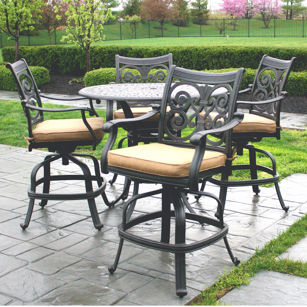 Latest Harper 5 Piece Counter Sets Regarding Awesome Bar Height Outdoor Dining Set 5 Piece Heritage Bar Height (View 10 of 20)