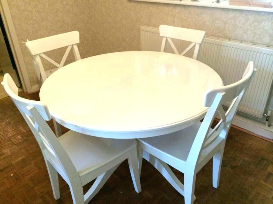 Latest Ikea Round Dining Tables Set With Regard To Ikea Round Dining Table And Chairs Round Kitchen Table Bathroom (View 14 of 20)