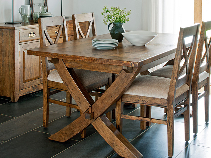Latest Java Dining Tables Pertaining To X Leg Extending Ding Table And 6X Dining Chairs From The Java Dining (Gallery 1 of 20)