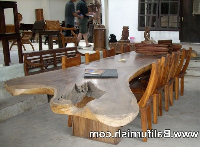 Latest Large Dining Table Teak Wood Furniture From Bali Indonesia Outdoor Throughout Bali Dining Tables (Gallery 1 of 20)