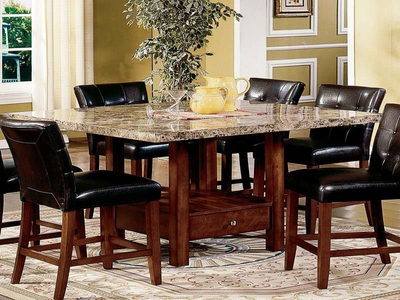 Latest Modern Dining Room Sets Granite Top Dining Table Storage Dining With Kitchen Dining Sets (View 14 of 20)
