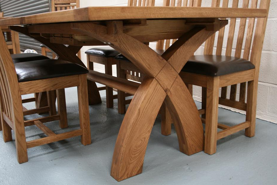 Latest Oak Furniture Dining Sets Regarding Dining Table Set Oak – Castrophotos (View 7 of 20)