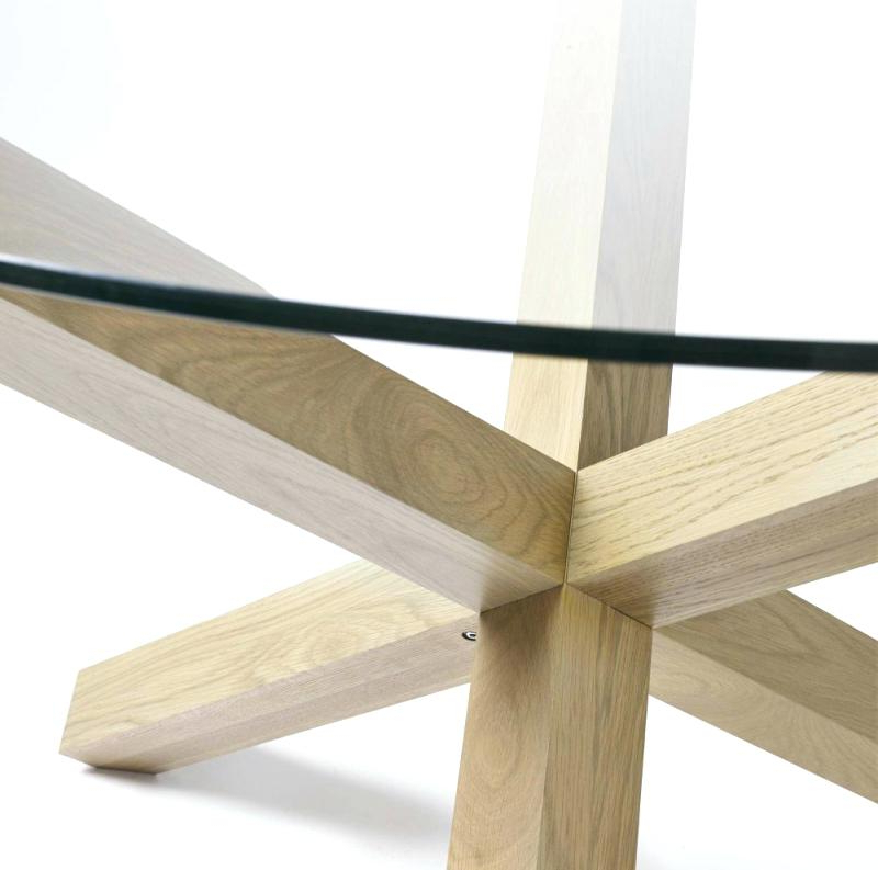 Latest Oak Glass Dining Table – Tinvietkieu With Glass Top Oak Dining Tables (View 13 of 20)