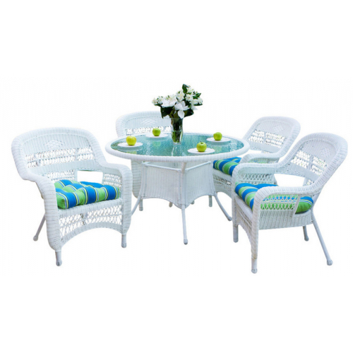Latest Outdoor Tortuga Dining Tables Regarding Tortuga Outdoor Portside 5 Piece Dining Set (View 3 of 20)