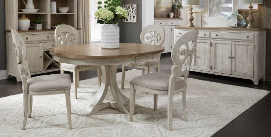 Latest Palazzo 7 Piece Dining Sets With Pearson White Side Chairs Inside Buy 5 Piece Sets Kitchen & Dining Room Sets Online At Overstock (View 12 of 20)