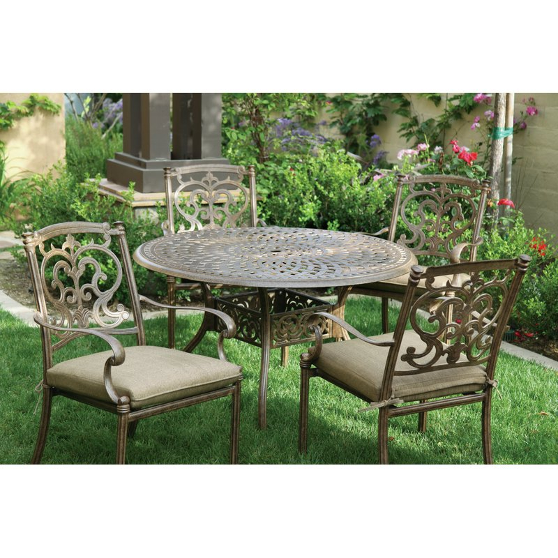 Latest Palazzo Rectangle Dining Tables Intended For Astoria Grand Palazzo Sasso 5 Piece Metal Frame Dining Set With (View 14 of 20)