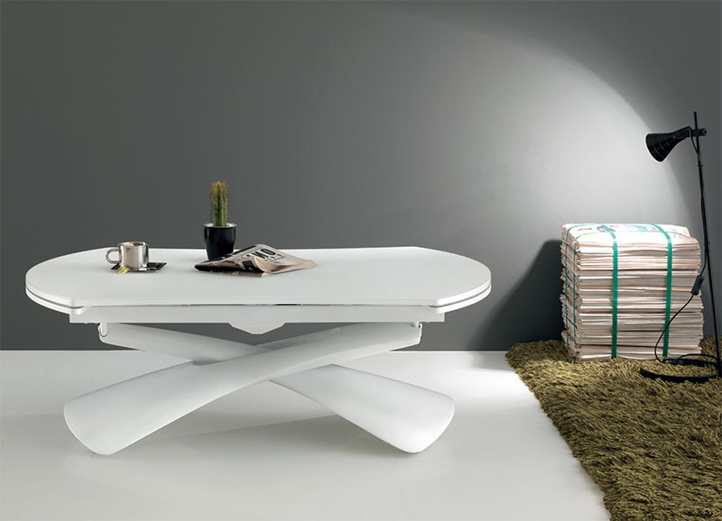 Latest Paris Dining Tables Intended For Modern Compar Convertible Paris Dining Table Or Coffee Table (Gallery 15 of 20)