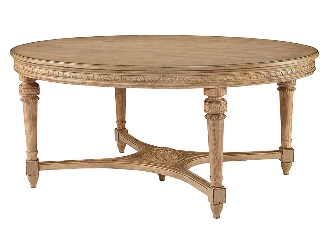 Latest Penland's Furniture English Country Wheat Finish Oval Dining Table Pertaining To Magnolia Home Shop Floor Dining Tables With Iron Trestle (View 17 of 20)
