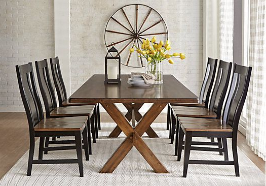 Latest Picture Of Twin Lakes Brown 5 Pc 72 In. Rectangle Dining Room From In Laurent 7 Piece Rectangle Dining Sets With Wood And Host Chairs (Gallery 20 of 20)