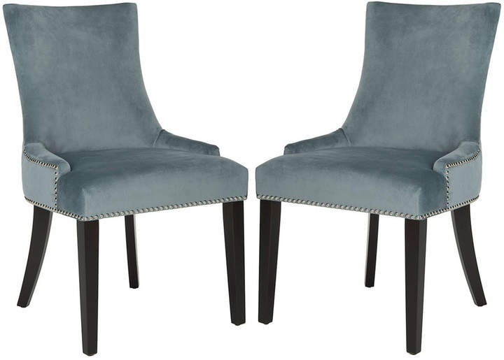 Latest Pilo Grey Side Chairs Inside Safavieh Lester Dining Chair 2 Piece Set In  (View 9 of 20)