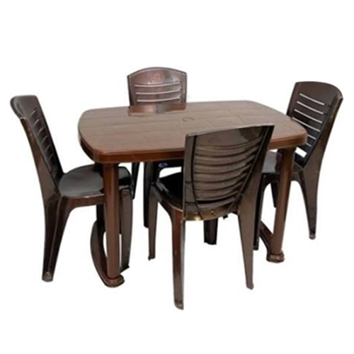 Latest Plastic Dining Table Chair Set, Dining Table And Chairs, Khaana Intended For Dining Table Chair Sets (Gallery 3 of 20)