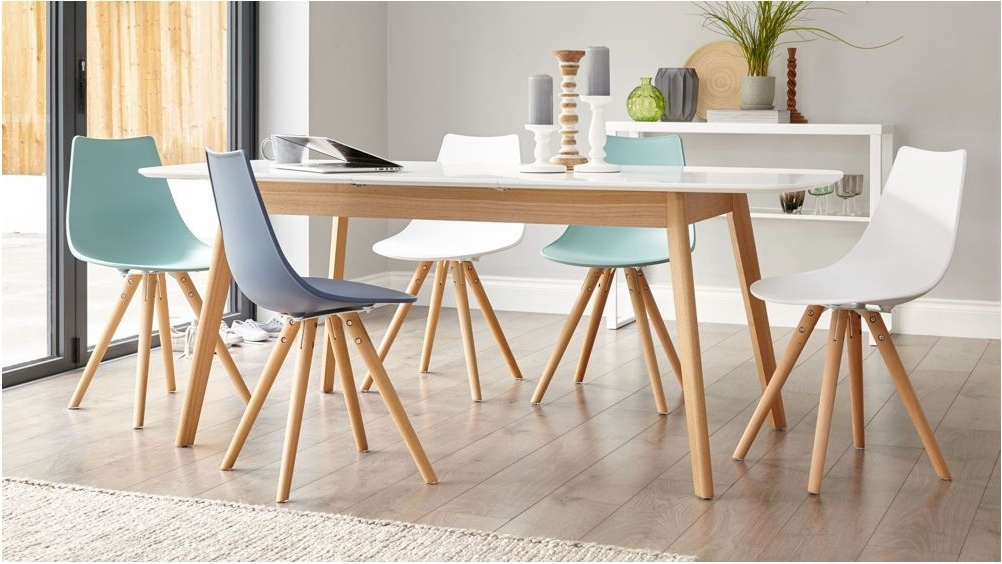 Latest Remarkable Modern White Oak Dining Table Glass Legs Seats 6 8 Throughout 8 Seater Oak Dining Tables (View 19 of 20)