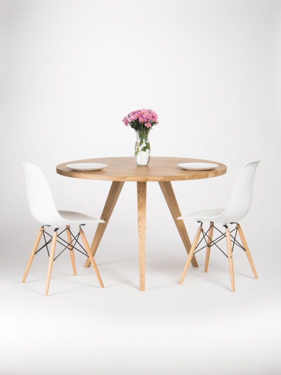 Latest Round Dining Table, Large Kitchen Table, Made Of Solid Oak Wood, Ø With Lassen Round Dining Tables (View 11 of 20)