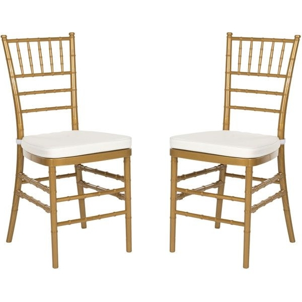 Latest Set Of Two Carly Side Chairs In Gold Designsafavieh ($228 Inside Carly Side Chairs (View 4 of 20)