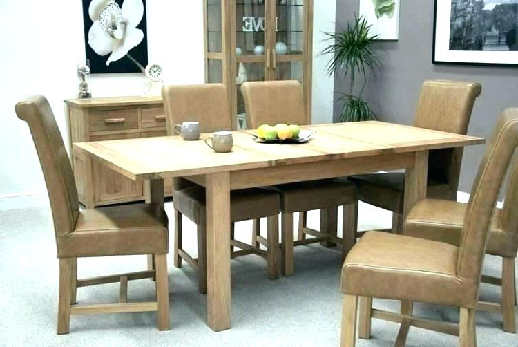 Latest Small Extending Oak Dining Table – Kuchniauani Intended For Extending Dining Tables Set (View 10 of 20)
