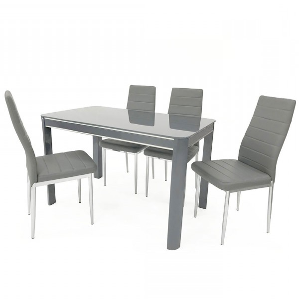 Latest Sweet Slim 70 Cm Wide Narrow Grey Gloss Dining Table With Grey Gloss Dining Tables (View 15 of 20)