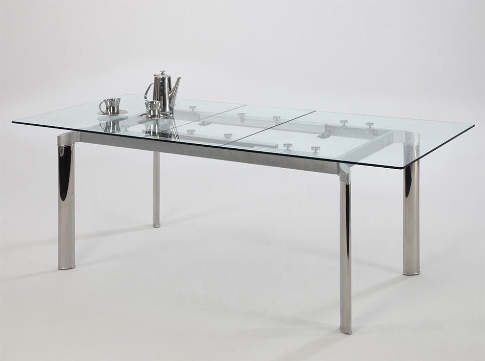 Latest Tara Extendable Dining Tablechintaly Within Extendable Glass Dining Tables (View 10 of 20)