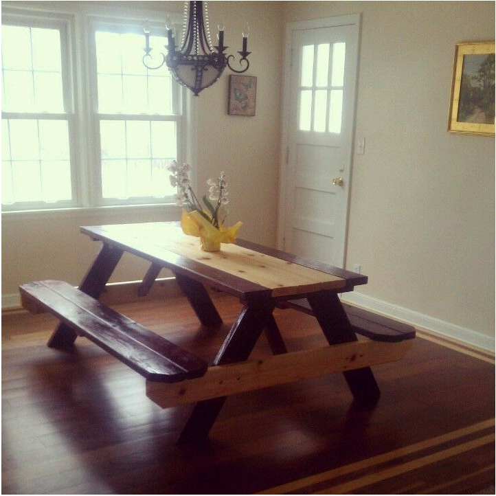 Latest Terrific Picnic Table Dining Room New Picnic Style Dining Room Table With Indoor Picnic Style Dining Tables (Gallery 11 of 20)