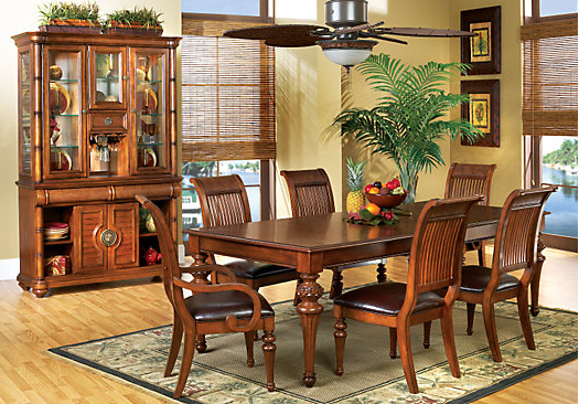 Latest The Cindy Crawford Key West Dark Pine 5Pc Rectangle Dining Room For Crawford 6 Piece Rectangle Dining Sets (View 17 of 20)
