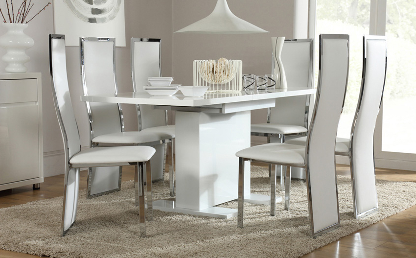 Latest White Dining Sets In Dinning Room (View 5 of 20)
