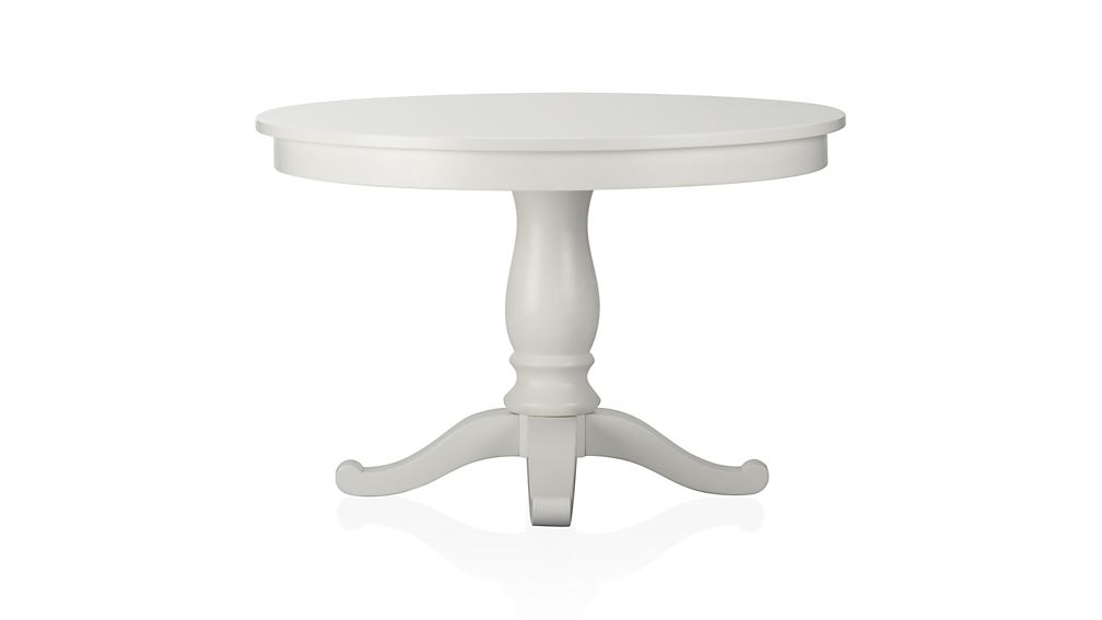 "Latest White Square Extending Dining Tables Regarding Avalon 45"" White Extension Dining Table + Reviews (View 7 of 20)"