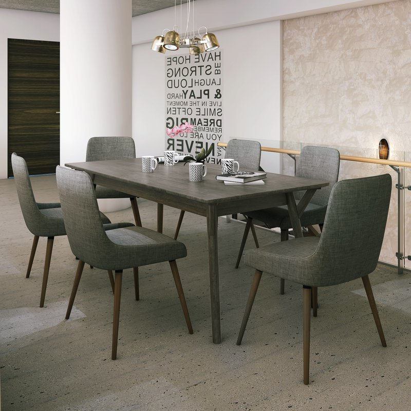 Featured Photo of Helms 7 Piece Rectangle Dining Sets With Side Chairs