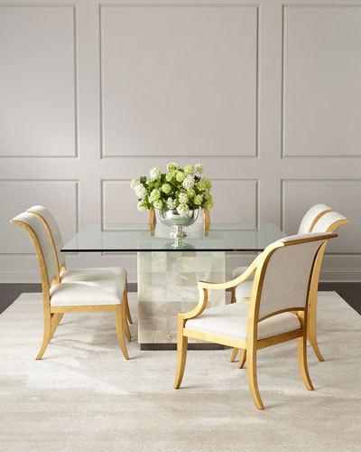 Laurent 5 Piece Round Dining Sets With Wood Chairs Within Most Popular Dining Room Furniture At Neiman Marcus (View 8 of 20)