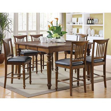 Laurent 7 Piece Counter Sets With Wood Counterstools Throughout Recent $599 / Sam's Club – Burkhart Counter Height Dining Set – 7 Pc. Item (Gallery 17 of 20)