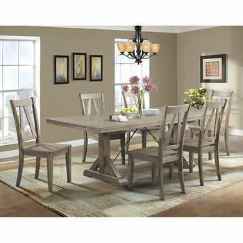 Laurent 7 Piece Rectangle Dining Sets With Wood And Host Chairs In Trendy Finn 7 Piece Dining Set $1,489.99 Costco (View 5 of 20)