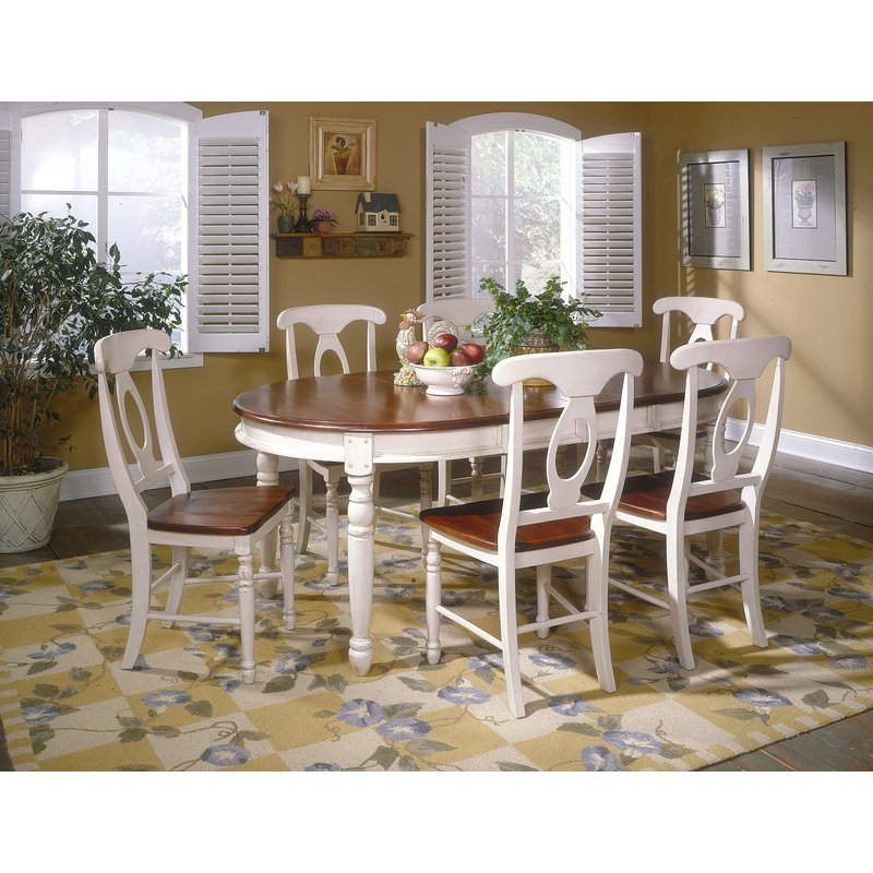 Laurent 7 Piece Rectangle Dining Sets With Wood And Host Chairs With Regard To Popular Laurel Foundry Modern Farmhouse Shelburne 7 Piece Extendable Dining (View 14 of 20)