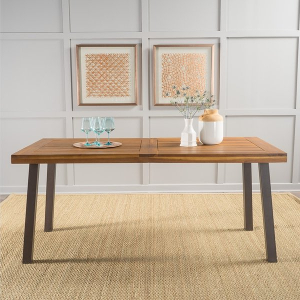 Laurent 7 Piece Rectangle Dining Sets With Wood Chairs For Well Known Shop Sparta Acacia Wood Rectangle Dining Tablechristopher Knight (View 5 of 20)