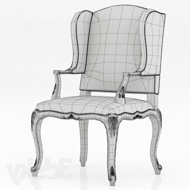 Laurent Host Arm Chairs Pertaining To Well Known 3D Models: Arm Chair – Ralph Lauren Conservatory Garden Host Chair (Gallery 4 of 20)