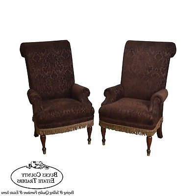 Laurent Host Arm Chairs Regarding Trendy Ralph Lauren Pair Of Upholstered Wing Back Chairs – $1,650.00 (Gallery 6 of 20)