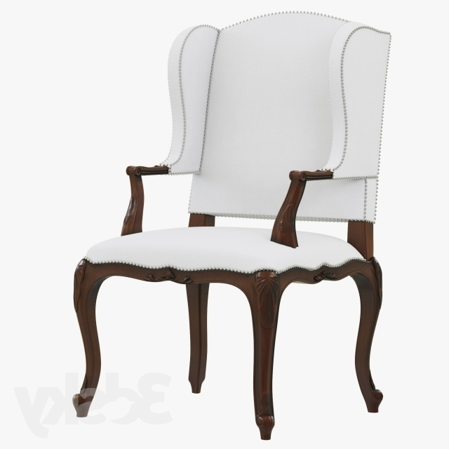 Laurent Host Arm Chairs Throughout 2018 3D Models: Arm Chair – Ralph Lauren Conservatory Garden Host Chair (Gallery 1 of 20)