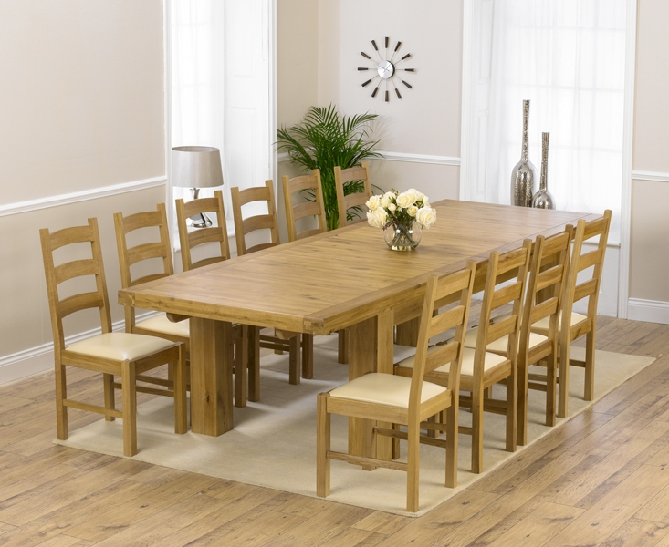 Laurent Rectangle Dining Tables In Most Popular Buy Mark Harris Laurent Solid Oak Rectangular Extending Dining Set (View 11 of 20)