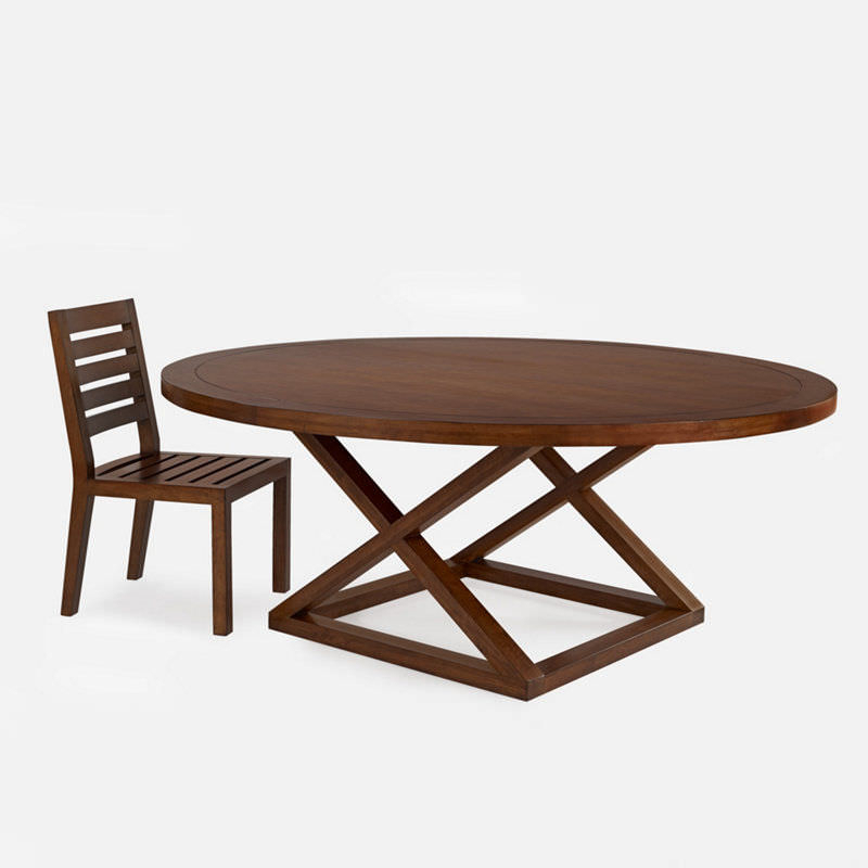 Laurent Round Dining Tables Throughout Most Up To Date Contemporary Dining Table / Wooden / Round – Jamaica – Ralph Lauren (View 17 of 20)