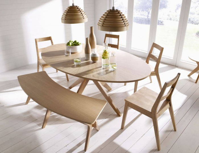 Laxa Oval Oak Dining Set With Chair And Bench Options In Recent Oval Oak Dining Tables And Chairs (View 7 of 20)