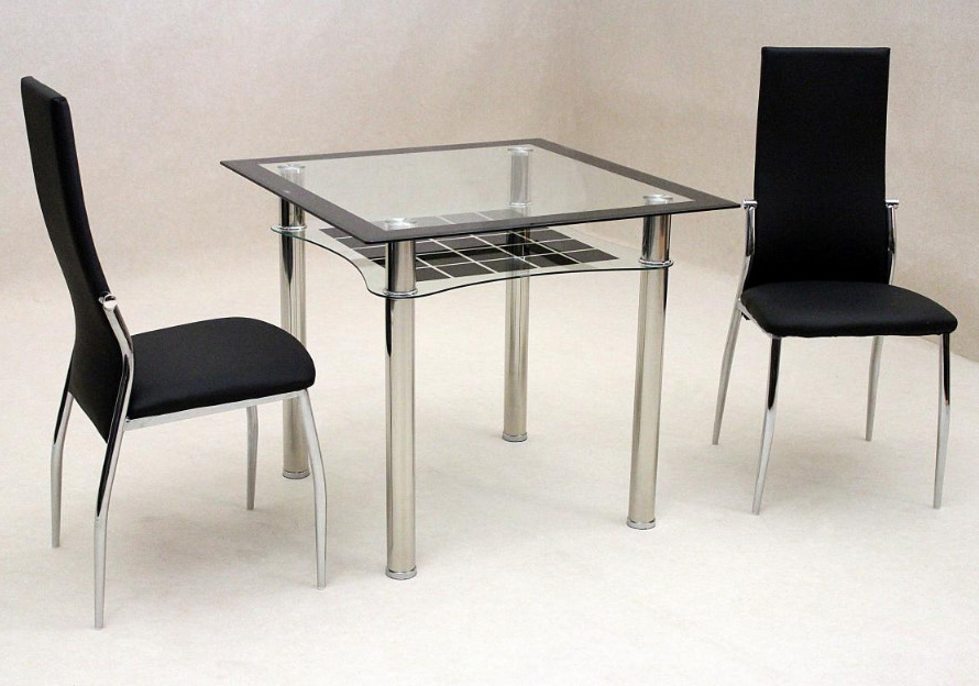 Lazio Dining Tables Pertaining To Well Liked Jazo Black Dining Table Chrome 2 Lazio Chairs • Essential Rentals (Gallery 16 of 20)