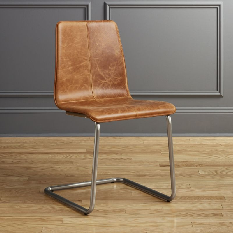 Leather Dining Chairs Regarding Trendy Leather Dining Chairs (View 14 of 20)