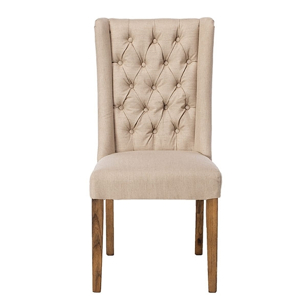 Leather, Oak & Fabric Chairs – Barker & Stonehouse Pertaining To Widely Used Quilted Brown Dining Chairs (View 9 of 20)