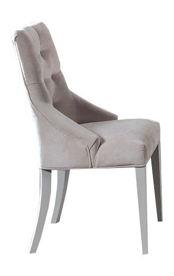 """Leather Upholstered Dining Chair """"kilkis"""" 121, Pine Wood, White Intended For Well Liked Pine Wood White Dining Chairs (View 17 of 20)"""