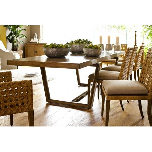 Leeward Coastal Gemelina Wood Rectangular Dining Table With Two Inside Trendy Helms 7 Piece Rectangle Dining Sets With Side Chairs (View 11 of 20)