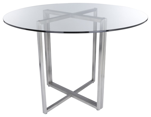 Legend Dining Table Base – Contemporary – Dining Tables Euro Style Within Most Up To Date Brushed Steel Dining Tables (View 7 of 20)