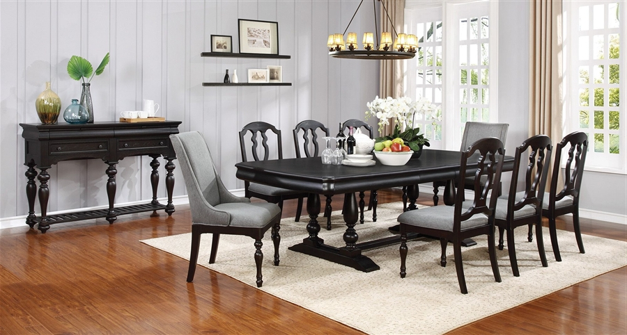 Leon 7 Piece Dining Set In Black Licorice Finishcoaster – 107331 Inside Famous Leon 7 Piece Dining Sets (Gallery 1 of 20)