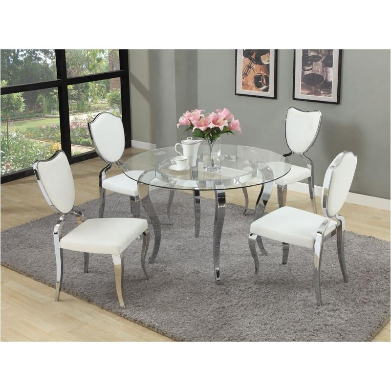 Letty Gl48 T Chintaly Imports Furniture Letty Dinette Table With Regard To Most Current Clear Glass Dining Tables And Chairs (View 18 of 20)