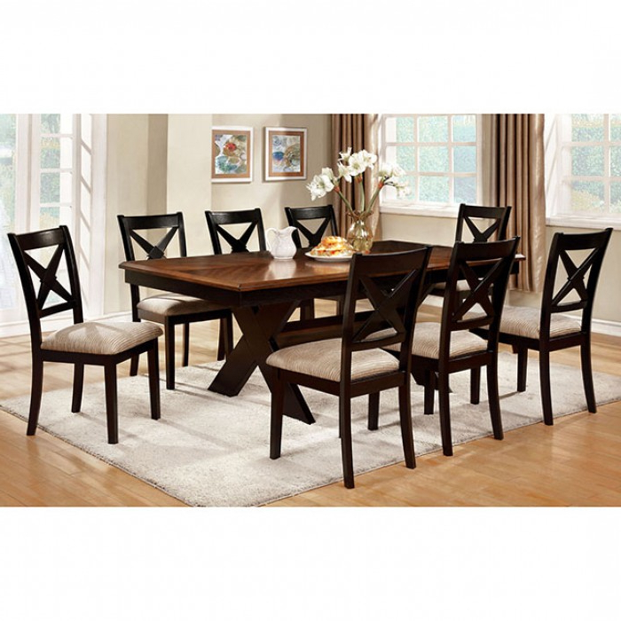 Liberta Transitional Dark Oak Black Dining Table Set – Shop For With Trendy Dark Dining Tables (View 20 of 20)